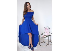 Blue High Low Hem Off Shoulder Party Dress LC61437 5 4