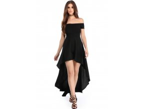 Black High Low Hem Off Shoulder Party Dress LC61437 2 1
