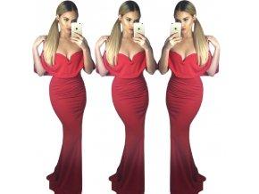 Červené dlhé elegantné šaty