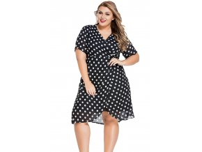 Classic Polka Dot Curvy Chiffon Dress LC61044 22 1