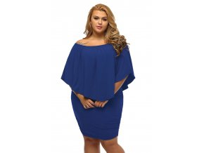 Plus Size Multiple Dressing Layered Blue Mini Dress LC22820 5P 3