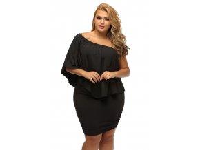 Plus Size Multiple Dressing Layered Black Mini Dress LC22820 2P 3