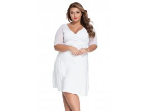White Plus Size Sugar and Spice Dress LC60671 2 1