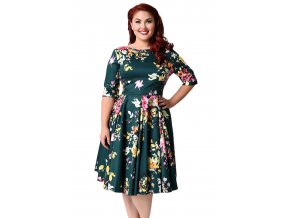 Jasper Vintage Style Floral Half Sleeve Swing Dress LC61702 9 1