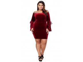 bordové šaty xl