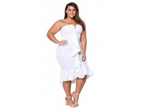 biele šaty xxxl