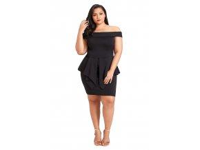 Čierne krátke peplum šaty