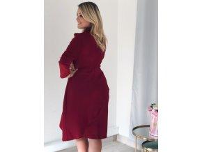 Bordové šaty s mašľou