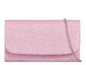 Malá kabelka v trblietavo-ružovej farbe