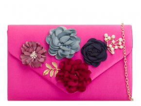 Ružová kabelka s kvetinami