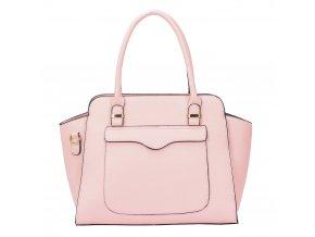 Štýlová svetlo-ružová kabelka do ruky