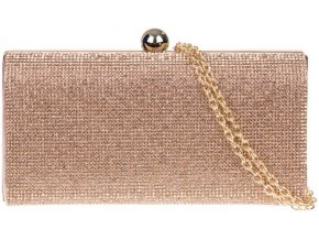 Luxusná večerná diamantová kabelka - zlatá farba