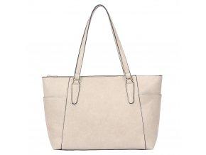 Béžová shopper taška na rameno