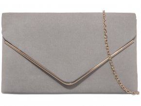 Sivá kabelka so zlatým lemom