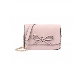 Svetlo-ružová kabelka s mašľou