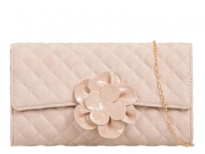 Béžová kabelka s kvetinou