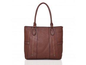 Tmavo-hnedá kabelka na rameno