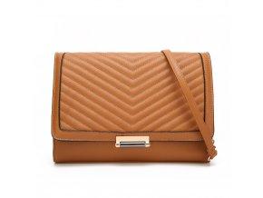 Karamelovo-hnedá elegantná kabelka