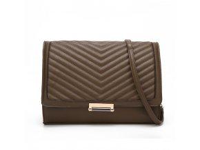 Čokoládovo-hnedá elegantná kabelka