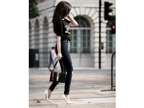 Čierna kabelka na rameno s mašľou