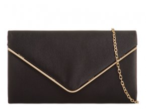 Čierno-zlatá večerná kabelka