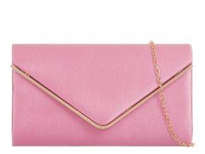 Ružovo-zlatá večerná kabelka
