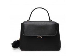 Elegantná čierna kabelka s príveskom