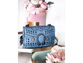 Modrá vybíjaná kabelka Taylor