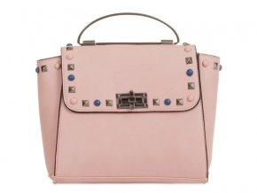 Ružová kabelka s farebným detailom