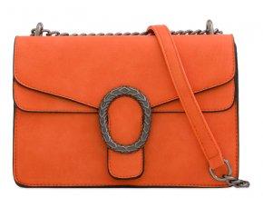 Elegantná oranžová kabelka na rameno