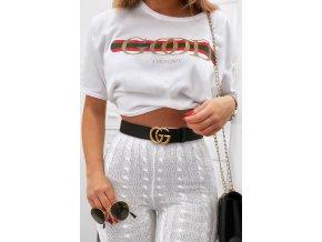 Crop tričko GOOD v bielej