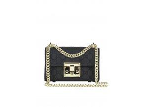 Štýlová kabelka v čierno zlatej
