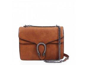 Hnedá kabelka na rameno Olivia