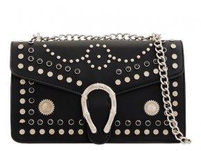 Čierna vybíjaná kabelka