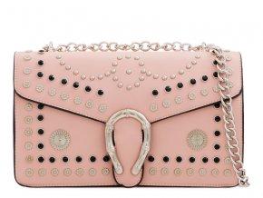 Svetlo ružová vybíjaná kabelka