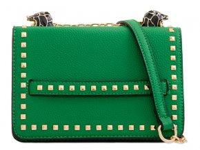 Zelená kabelka s detailom tigra