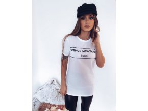 Biele tričko s čierny nápisom 1