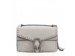 Sivá vybíjaná kabelka