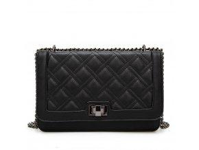 Elegantná čierna crossbody kabelka