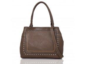 Hnedá priestranná kabelka