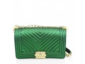 Zelená dámska kabelka Lana