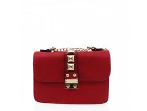 Červená dámska crossbody kabelka