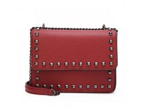 Červená vybíjaná kabelka