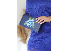 Tmavo-modrá kabelka ROSE
