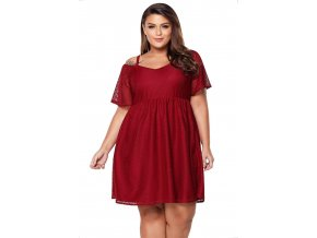 červené šaty pre moletky