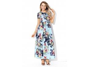 Biele šaty na ramienka s kvetinami  d807346168c