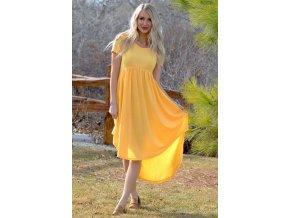Žlté tričkové šaty