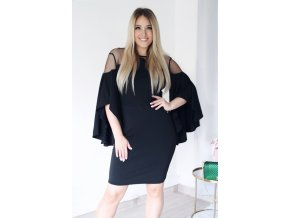 Čierne šaty so širokými rukávmi