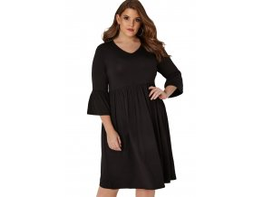 Ležérne čierne šaty
