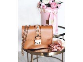 Hnedo-zlatá kabelka Chloe
